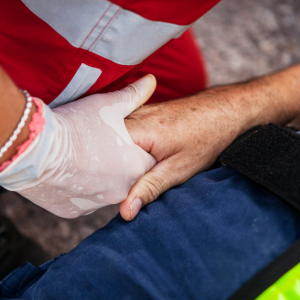First Responder Assisting an Individual